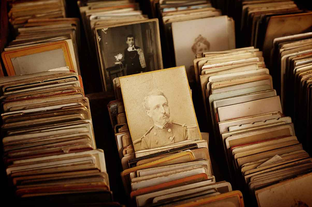 A neatly filed set of vintage portraits