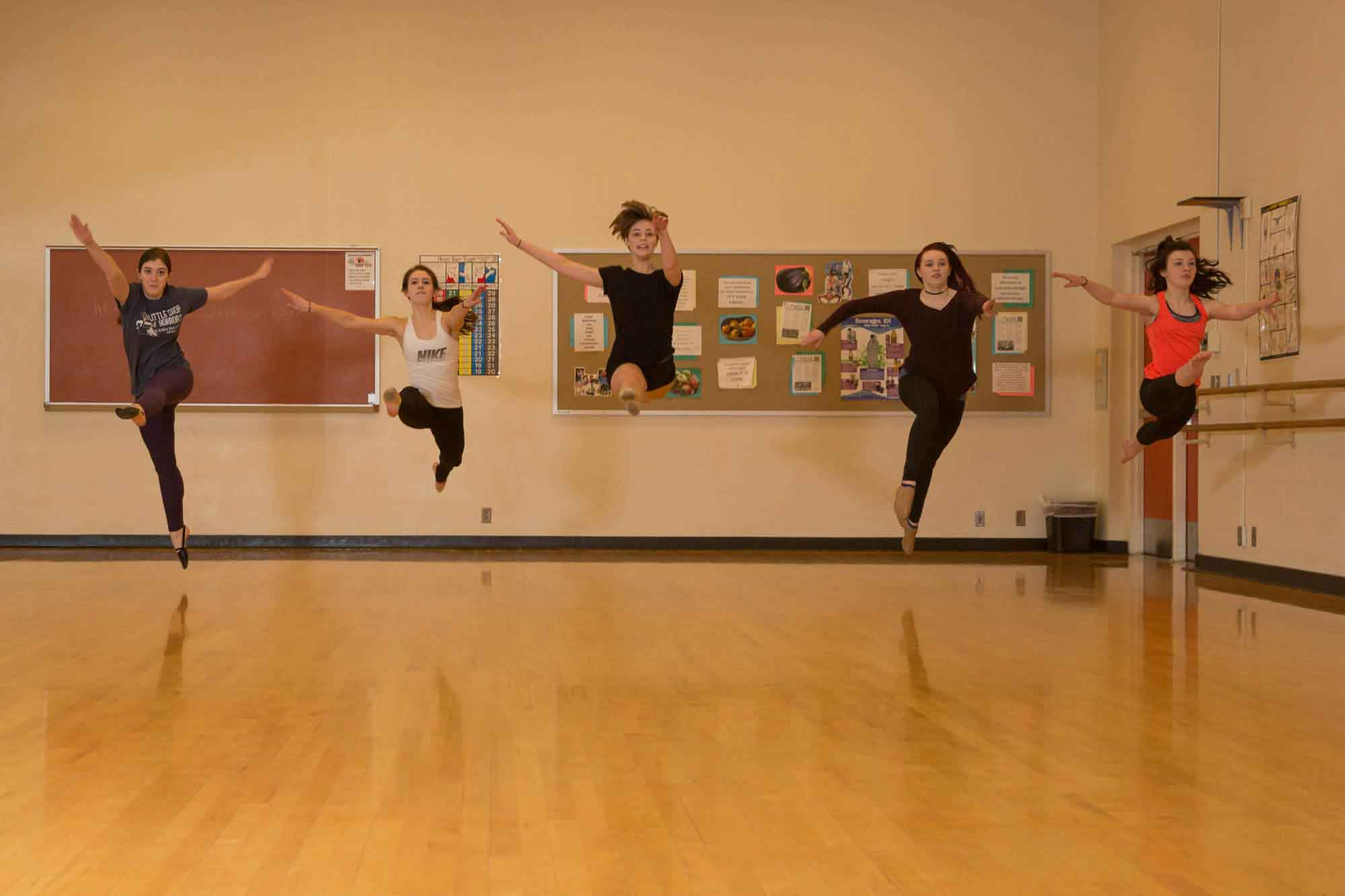Students in ballet class
