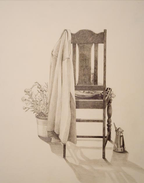Untitled (Chair), Graphite, by Wen-Hsin Chang (Angela)